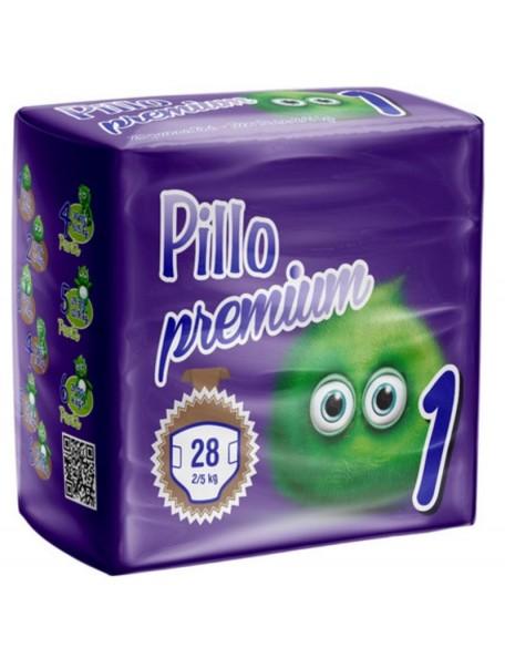 PANNOLINI PILLO PREMIUM NEWBORN 2-5 KG 28 PZ