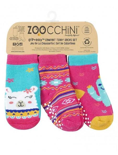 Zoocchini -  Calzini Antiscivolo 3-pack - Lama