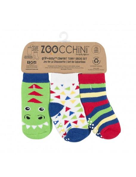 Zoocchini -  Calzini Antiscivolo 3-pack - Dinosauro