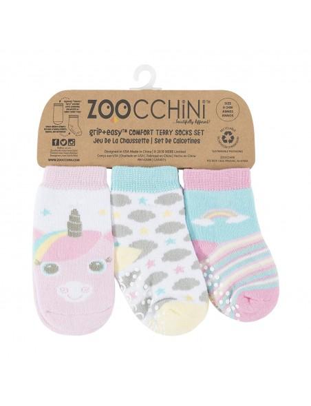 Zoocchini -  Calzini Antiscivolo 3-pack - Unicorno