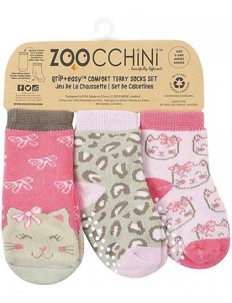 ZOOCCHINI Calzini Antiscivolo 3-pack kitty
