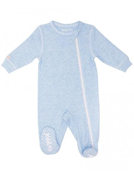 Juddlies Designs - Tutina con piede antiscivolo - 100% cotone Azzurra