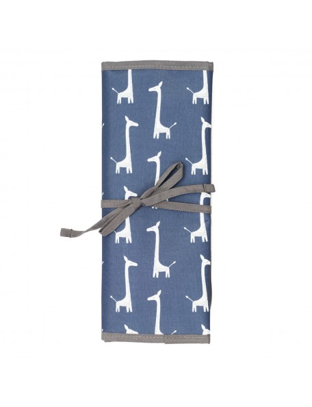 Fresk - Fasciatoio portatile in cotone biologico - Giraffa Indigo Blu