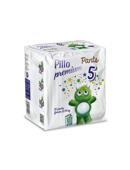Pillo Pants Premium - Pannolini  Mutandina Junior  12-18 Kg 20 Pz