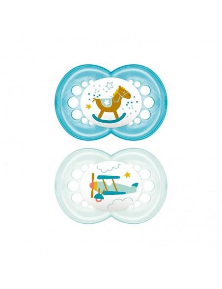 MAM - 6+ mesi - Ciuccio Original in caucciù - 2 pezzi - Colori assortiti