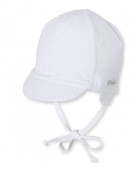Sterntaler - Cappellino neonato con visiera e laccetti