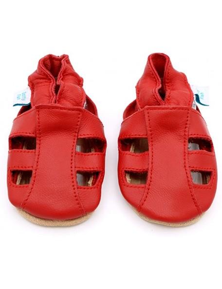 Dotty Fish - Sandalo Pelle - Rosso aperto