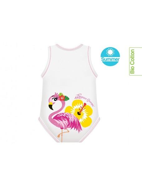 J Body - 0-36 mesi  - Bio Cotton Summer - Smanicato Fenicottero