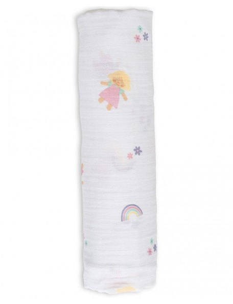 Lulujo Baby  - Copertina Swaddle 120 x 120 cm Lulu - 100% mussola di cotone