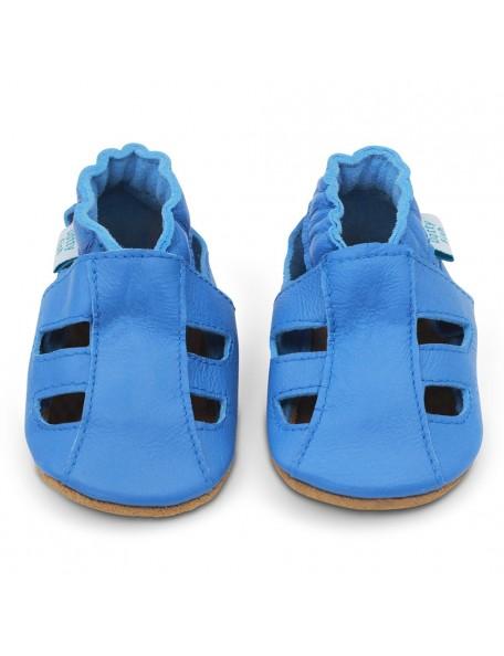 Dotty Fish - Sandalo Pelle - Blu Elettrico