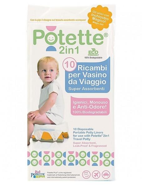 Potette - 2in1- 10 ricambi per vasino da viaggio