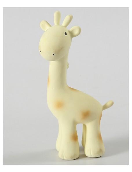 Tikiri - 3-in-1 Sonaglio/Massaggiagengive/Gioco da Bagno - Giraffa - 100% Caucciù Naturale