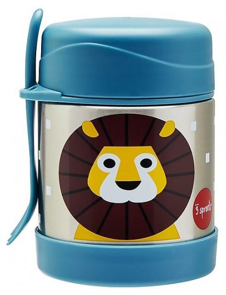 3Sprouts - Thermos Porta Cibo in Acciaio Inossidabile con Cucchiaio-Forchetta, 350 ml