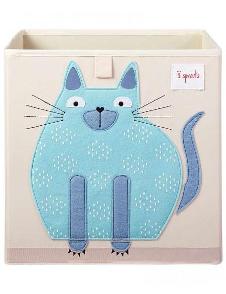 3Sprouts - Contenitore portaoggetti  - Gatto