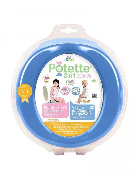 Potette - Vasino&riduttore 2in1 - Blu