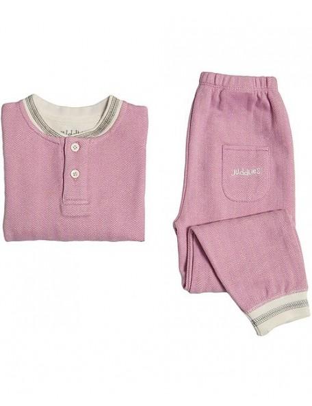 Juddlies Designs - Pigiama Bambino Cotone Bio Cottage Rosa - 2 ANNI
