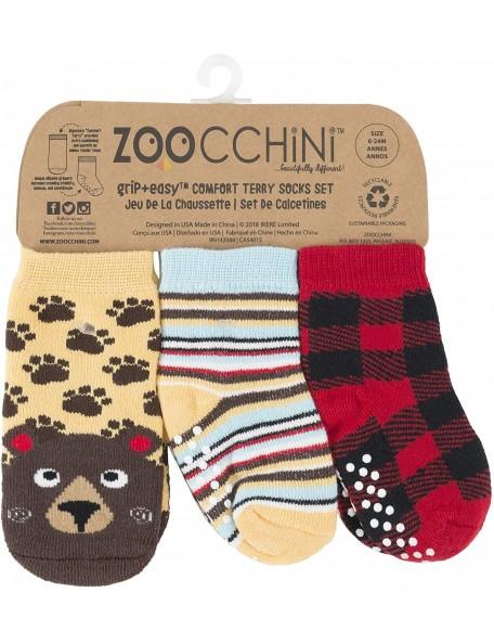Zoocchini - Calzini Antiscivolo 3-pack - Orso