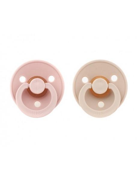 Bibs Color - Set 2 Succhietti - 6-18M - Vaniglia/Rosa Cipria
