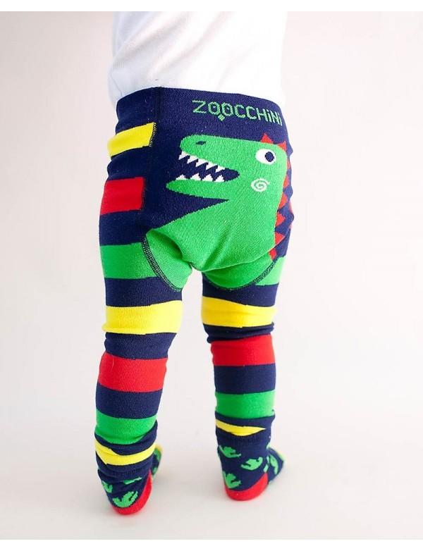 Zoocchini - Leggings Antiscivolo+Calzini - Dinosauro