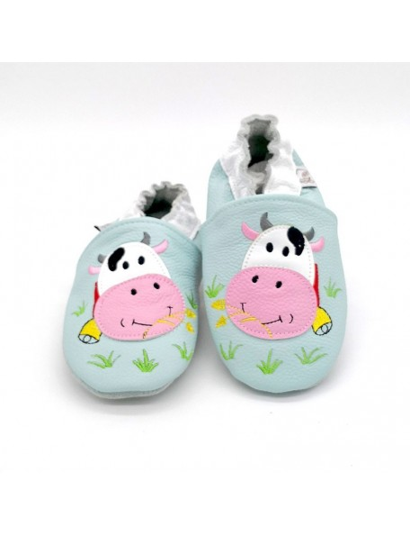 Le Peppe - Pantofole Pelle - Mucca