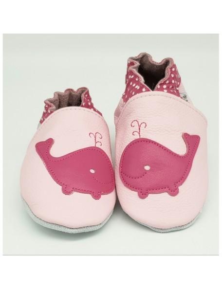 Le Peppe - Pantofole Pelle - Balena rosa
