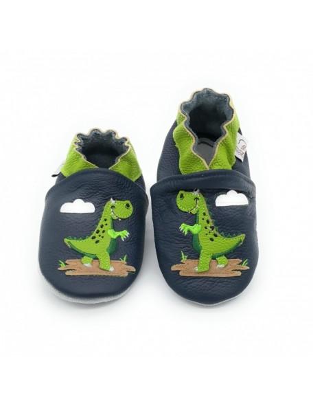 Le Peppe - Pantofole Pelle - Dinosauro