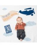 Lulujo Baby - Kit Primo Anno I Will Move Mountains - Copertina Swaddle in Mussola di Cotone + 14 Cards