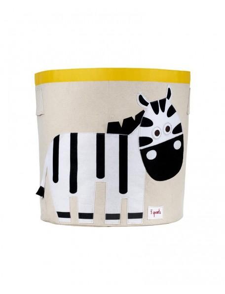 3Sprouts - Cesto Portatutto - Zebra - 100% Cotone