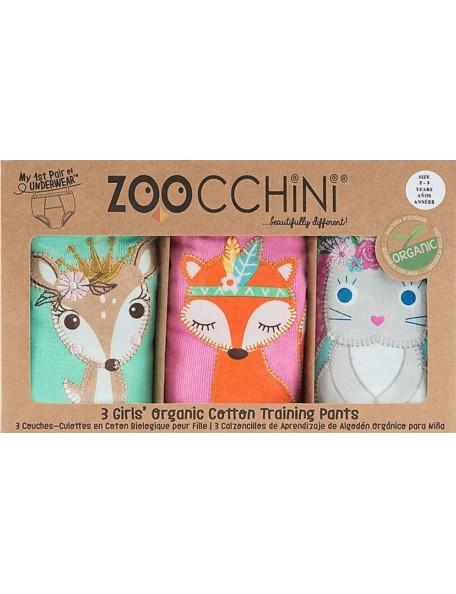 ZOOCCHINI training pants 3-pack Girls woodland princesses