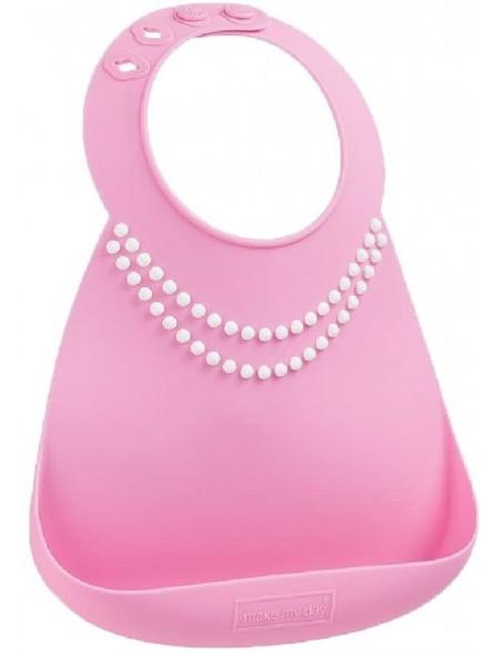 Make My Day - Bavaglino morbido silicone con tasca - Collana perle