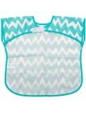 Bumkins - Bavaglia/grembiule con tasca  - Zig zag azzurro - 1-3 anni