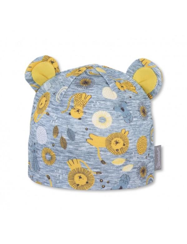 Sterntaler - Cappellino neonato con orecchie - Leoncini