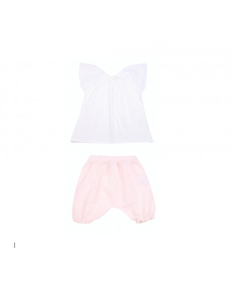 Kids Company - Completo Bianco - Rosa