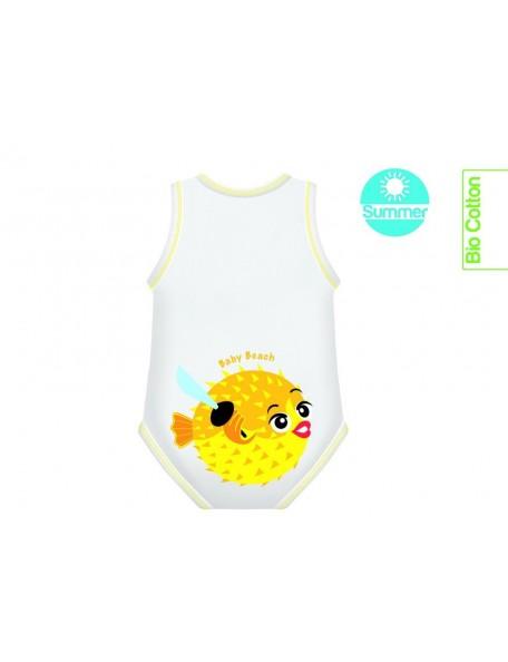 J Body 0-36 mesi -Bio Cotton Summer - Smanicato Pesce Palla