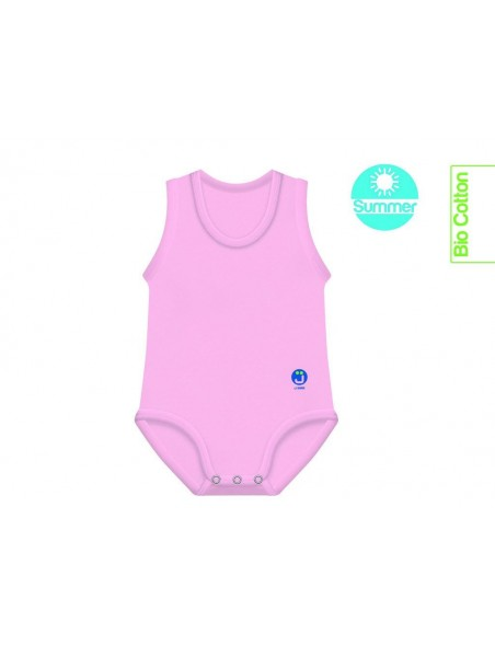 J Body 0-36 mesi -Bio Cotton Summer - Smanicato Rosa