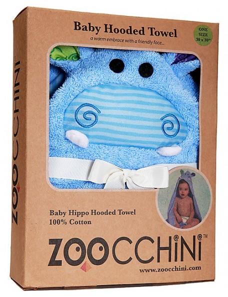 Zoocchini -  Asciugamano Baby con cappuccio - Henry l'ippopotamo - 100% cotone