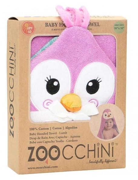 Zoocchini - Asciugamano Baby con Cappuccio - Pinguino  - 100% cotone - UPF 50