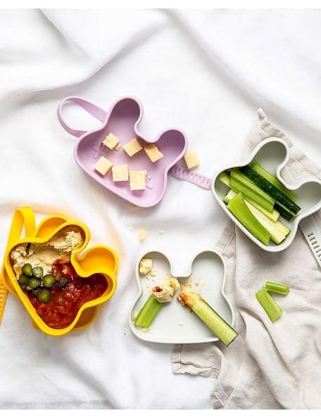 We Might be Tiny -Contenitore Coniglio Snackie 2 in 1 Porta Pranzo e Piatto - Senza BPA! - Verde Menta