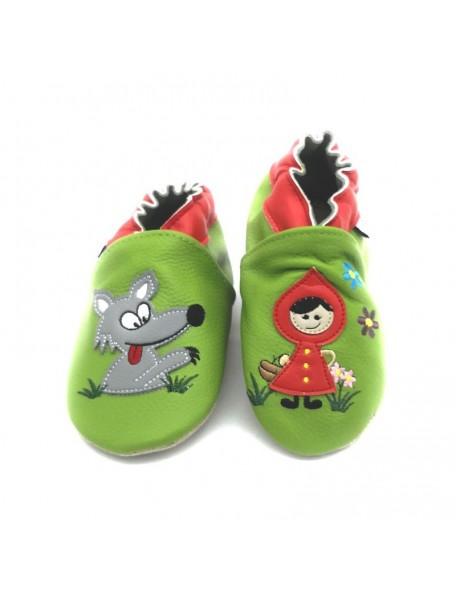 Le Peppe - Pantofole Pelle - Cappuccetto Rosso