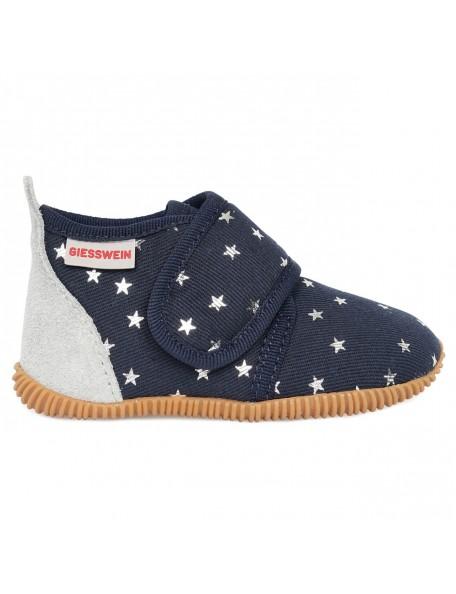GIESSWEIN - Pantofola Slim Fit - 100% Cotone - Blu stelle