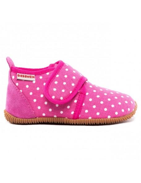 GIESSWEIN - Pantofola Slim Fit - 100% Cotone - Fucsia pois