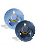 Bibs Color - Set 2 Succhietti - 0-6M - Sky/Steel Blu