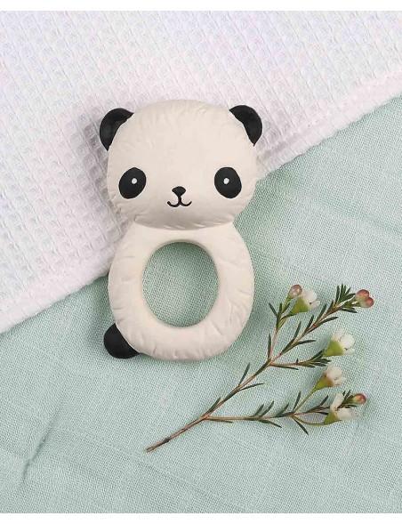 A Little Lovely Company - Anello da Dentizione, Panda Bianco - 100% Gomma Naturale