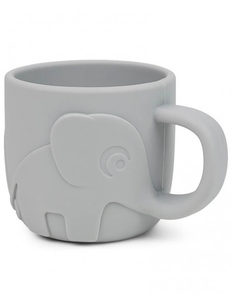 Done By Deer  Tazza Peekaboo - Elefante - Grigio - 100% Silicone Alimentare - 165ml