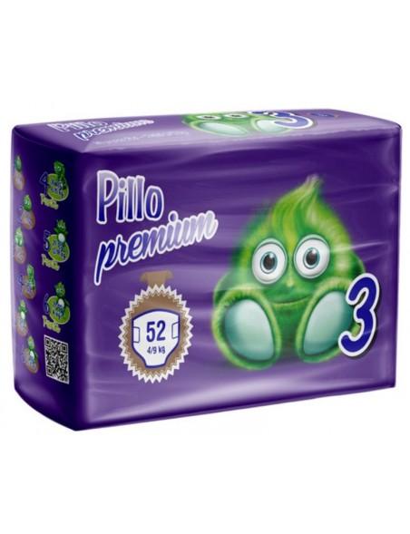 Pillo Premium Pannolini Midi  4-9 Kg 52 Pz